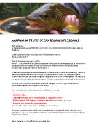 AAPPMA LA TRUITE DE CHATEAUNEUF LES BAINS